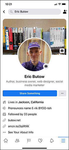 Access your likes from your profile page on the Facebook app